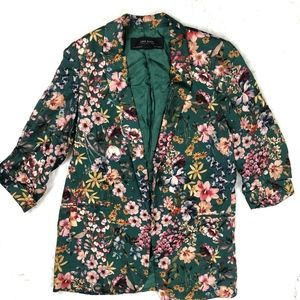 Zara Basics Collection Floral Blazer